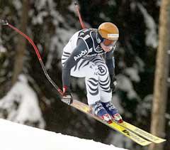Hilde Gerg vant super G i Veysonnaz. (Foto: AP/Scanpix)