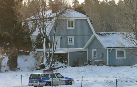 Det var i dette huset konen til en norskfødt pinsepastor ble drept sist lørdag. (Scanpix-foto)