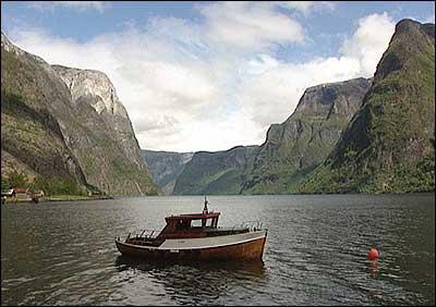 Frå Nærøyfjorden. (Foto: NRK)