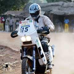 Pål Anders Ullevålseter i aksjon i Paris-Dakar. (Foto: AFP/Scanpix)
