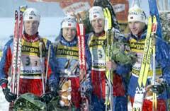 Det norske laget bestod av Frode Andresen, Halvard Hanevold, Lars Berger og Egil Gjelland. (Foto: AFP/Scanpix)