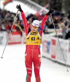 Liv Grete Skjelbreid Poirée skjøt feilfritt og vant overlegent sprinten i tyske Ruhpolding i midten av januar. (Foto: Heiko Junge / SCANPIX)