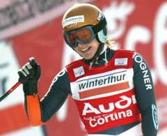 Hilde Gerg vant i Cortina. (Foto: Reuters /Scanpix)