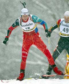 Halvard Hanevold vant sprinten i Ruhpolding (Foto: Reuters/Scanpix)