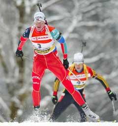 Lars Berger på vei til 2. plass. (Foto: Reuters/Scanpix)