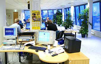 40 medarbeidere jobber med å lage et bredt radio-, tv- og nett-tilbud ved NRK Nordland.
