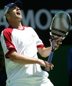 Topprangerte Andy Roddick gjekk lett vidare (Foto: Rick Stevens AP)