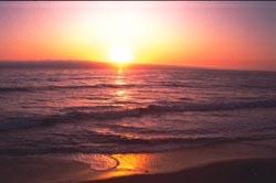 ...med stranda i Syden.