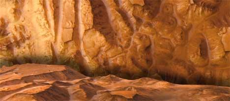 Det er funnet vann, men for lite karbondioksid til at det kan ha vært liv på Mars. (Foto: Scanpix)