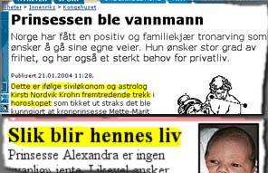 NRK.no og VG har klare meninger om prinsessens livsløp.