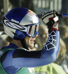 Daron Rahlves tok sin aller første seier i super-G (Foto: Rudi Blaha, AP)