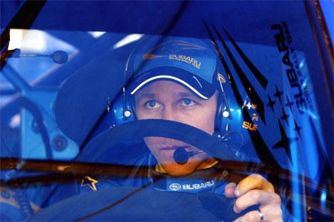 Petter Solberg på vei ut til den nest siste fartsprøven uvitende om møte med fjellveggen som snart skulle skje.( Foto: Cornelius Poppe / SCANPIX )