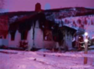 Bolighuset var overtent da brannen ble oppdaget.