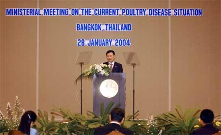 Thaksin Shinawatra åpnet krisemøtet i Bangkok (Scanpix/AP)