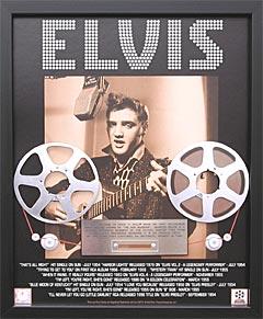 Slik ser de innrammede versjonene av Elvis-opptakene man kan kjøpe. Foto: www.elvismastertape.com.