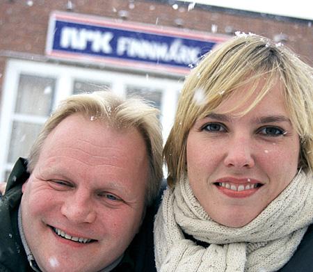 Morgenvertene Ingunn Vassvik og Geir Samuelsen gir folk i Finnmark godt radiofølge på morgenkvisten.