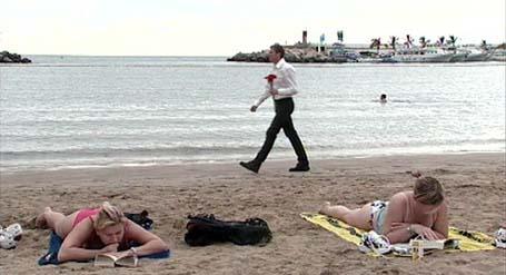 Programleiar Øystein Skotte på veg til bryllup på Gran Canaria.