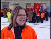 Siv Engan er talskvinne for streikekomiteen.