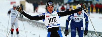 John Kristian Dahl vinner sprinten i NM 2004. (Foto: Gorm Kallestad/Scanpix)