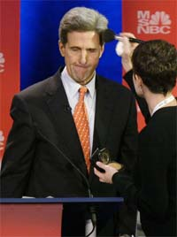 John Kerry ble i dag spurt om ryktene av TV-kanalen MSNBC.