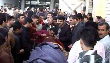 Selvmordaksjonene i Arbil tok 56 sivile liv. Foto: APTN
