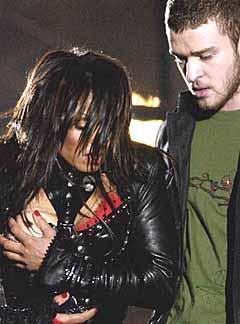Det var Janet Jackson og Justin Timberlake som skapte de største overskriftene under siste utgave av Superbowl-finalen. Foto: David Phillip, AP Photo.