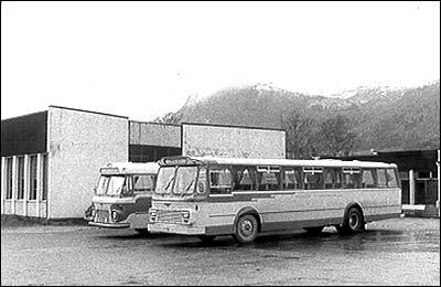Busstasjonen på Nordfjordeid i 1971. (Foto: NRK)