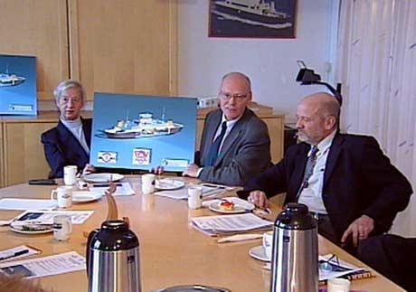 Anna Synnøve Bye presenterer søknaden om FoU-midler til gassferjeprosjektet på en pressekonferanse 15.januar.