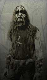 Den tiltalte som «Gaahl» i Gorgoroth. (Foto: Peter Beste)