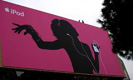 Apple profilerte seg sterkt under den Europeiske musikkkonferansen Midem i Cannes i januar. Foto: Arne Kristian Gansmo, NRK.