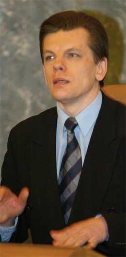 Latvias statsminister Einars Repse har varsla regjeringa sin avgang. (AFP/Scanpix-foto)