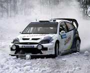 Markko Märtin hadde skikkelig uflaks på den ellevte fartsprøven.(Foto:Scanpix/Øyvind Lund)