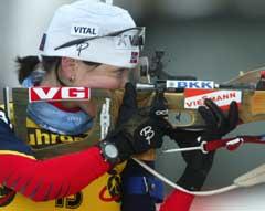 Liv Grete Skjelbreid Poirée feilfrie ståendeskyting la grunnlaget for seieren. (Foto: AFP/Scanpix)
