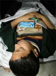Tareq al-Sussi mistet livet på vei til skolen (Scanpix/AFP)