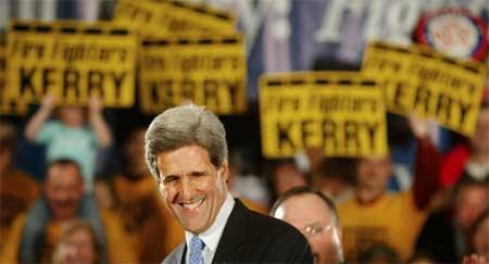 JOHN KERRY: Ligger an til å bli demokratenes presidentkandidat i november. Hvem kan egentlig true ham?