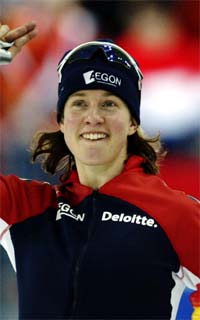 Renate Groenewold ble verdensmester på Hamar i dag. Foto: Scanpix.