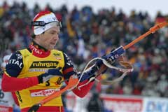 Ole Einar Bjørndalen visste at han kunne vinne da han kom inn til siste skyting. (Foto: Heiko Junge/SCANPIX)