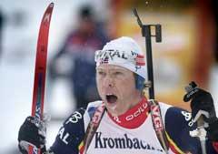 Halvard Hanevold var best av alle i jaktstartdelen. (Foto Heiko Junge/Scanpix)