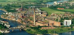 Et av de sterkt forurensede områdene ligger ved Borregaard i Sarpsborg.