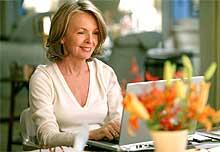 """Diane Keaton er nomimert til Oscar for innsatsen i """"Når du minst venter det""""."""