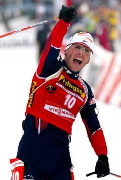 Raphael Poiree jubler over seieren. (Foto: AP/Scanpix)