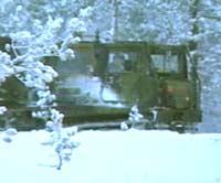 Ei beltevogn i Mauken treningsfelt, der ulykka skjedde i desember 1999.