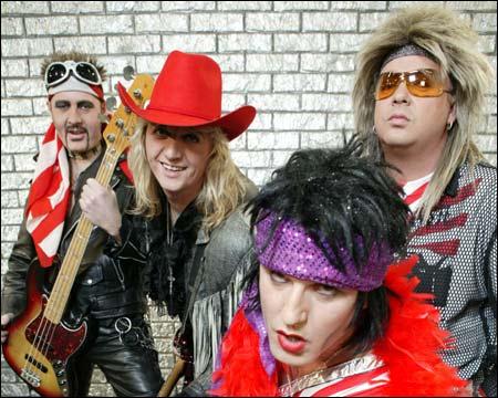 Melodi C: Wig Wam. Fra venstre Flash, Teeny, Glam og Sporty
