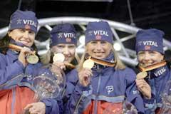 Det historiske stafettgullet var med på å gjøre VM i i Oberhof til tidenes beste. (Foto: Heiko Junge/Scanpix)