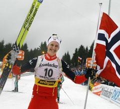 Lars Berger var et eneste stort glis etter målpassering. (Foto: Heiko Junge/Scanpix)