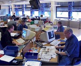 NRK Møre og Romsdal sitt redaksjonslokale i Ålesund.