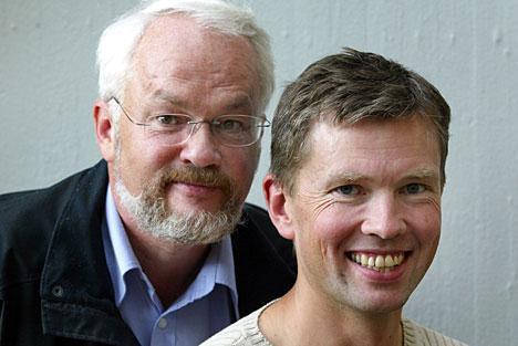 Jan Vidar Pedersen og Stein S Eide hører du ofte i formiddagssendingene fra NRK Hedmark og Oppland. (Foto: Gorm Kallestad/Scanpix)