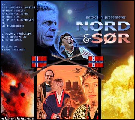 Som følge av humordebatten brøt det ut borgerkrig i Norge, som senere ble filmatisert. (Arne Killingbergtrø)