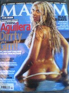 Christina Aguilera på forsiden av herremagasinet Maxim.