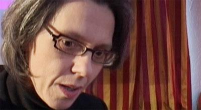Jonsdottir raste mot journalistene i dag. Foto: NRK / Jo Hjelle